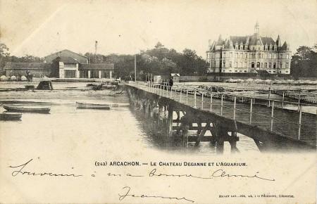 Le chateau Deganne et l'aquarium
