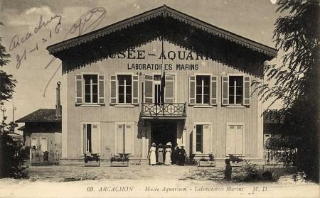 Le Musée-Aquarium, au début du 20e siècle (Cliquez sur la carte postale pour  l'agrandir)