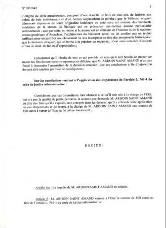 Décision du tribunal administratif 3