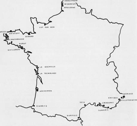 Carte des stations biologiques