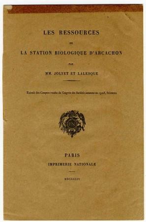 La couverture de la plaquette du Pr. Jolyet et du Dr Lalesque