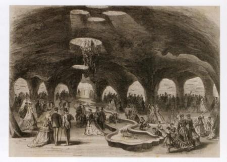 Aquarium at the World Fair in Paris, 1867, woodcut, from : L'Illustration, XXV, n° 1286, 1867, p. 245.