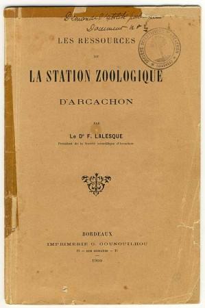 La couverture de la plaquette du Dr Lalesque