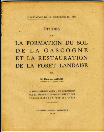 Etude de Maurice Lacoin, Président de la Cellulose du Pin.
