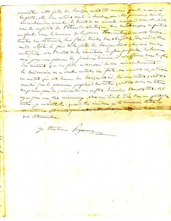 Lettre du curé (3e feuillet)